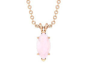 Created Pink Onyx Necklace