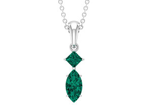Created Russian Emerald Necklace