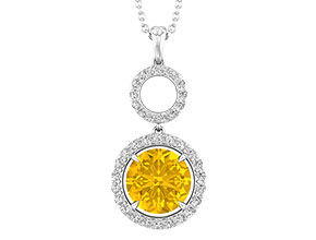 Created Yellow Sapphire Necklace