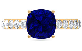 Created Blue Sapphire Rings