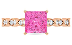 Created Pink Sapphire Rings