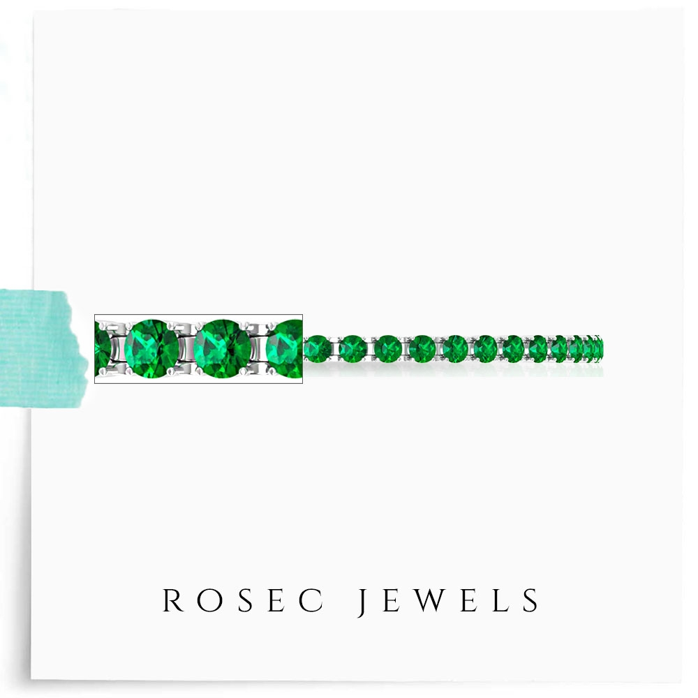 Tennis Bracelet for Women with 6.25 CT Emerald