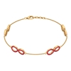 3/4 CT Ruby Accent Infinity Chain Bracelet For Women