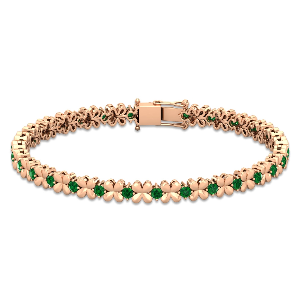 1.50 CT Round Shape Emerald Tennis Bracelet in Prong Setting