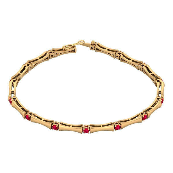 1.50 CT Ruby Stacking Style Tennis Bracelet for Women