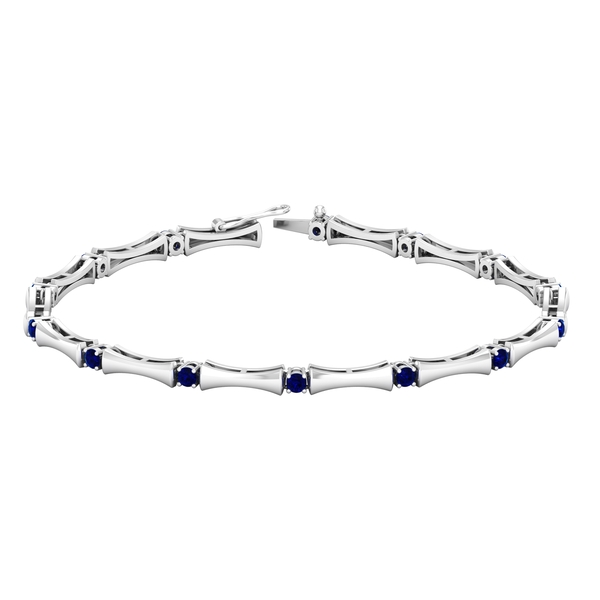 1.50 CT Blue Sapphire Stacking Style Tennis Bracelet for Women