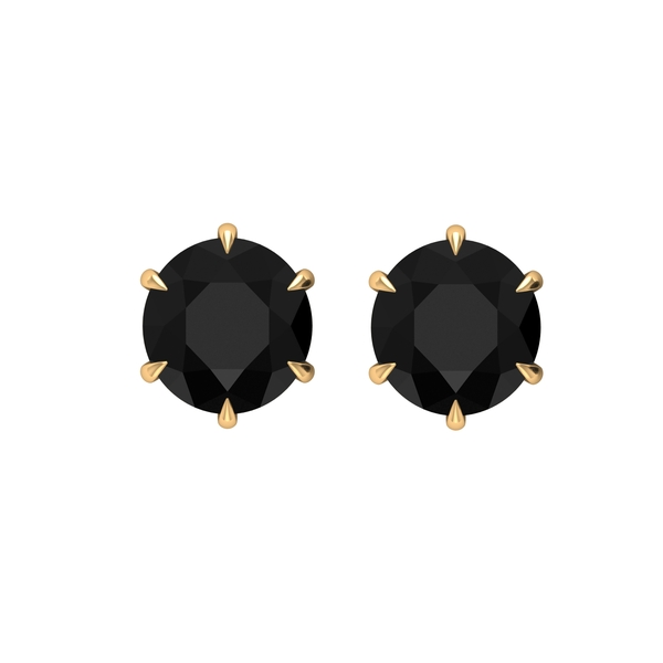 3.50 CT Claw Set Created Black Diamond Solitaire Stud Earrings