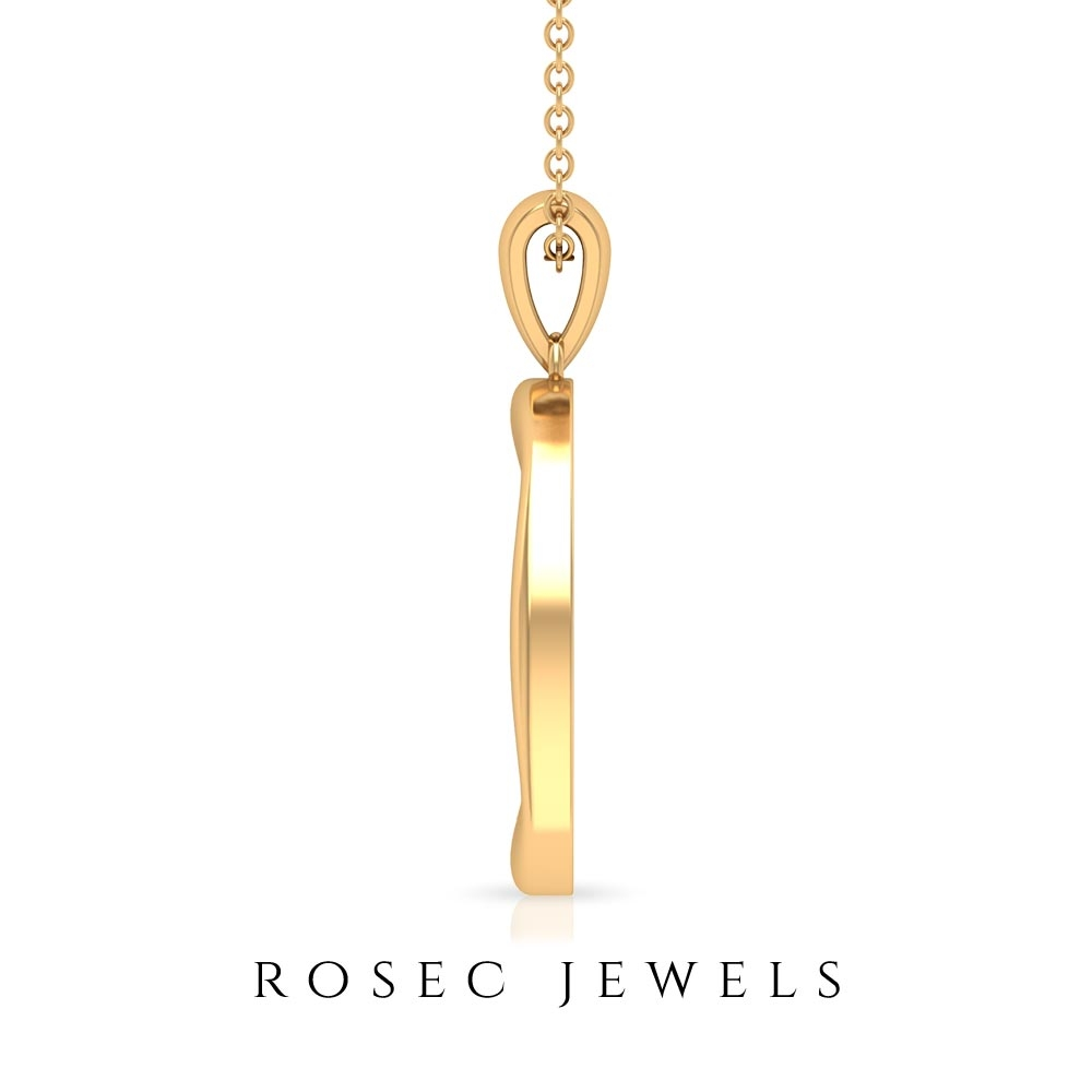0.25 CT Minimal Diamond and Gold Disc Pendant Necklace