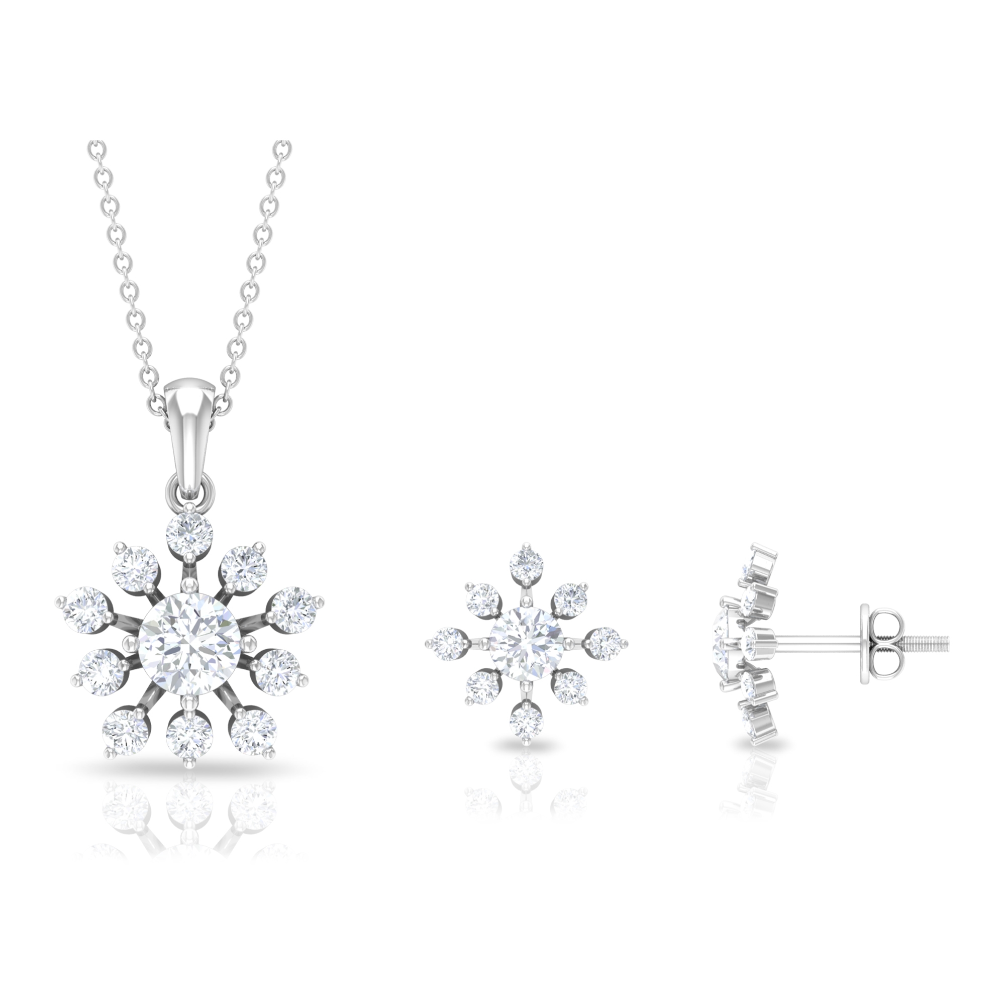 2.25 CT Statement Moissanite Floral Jewelry Set