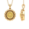 2 CT Citrine and Beaded Gold Pendant
