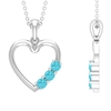 1/2 CT Simple Swiss Blue Topaz and Gold Heart Pendant