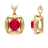 2.25 CT Minimal Ruby and Gold Pendant