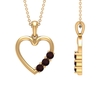 1/2 CT Simple Garnet and Gold Heart Pendant