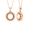 3/4 CT Moonstone Solitaire and Gold Beaded Pendant Necklace