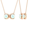 3/4 CT Simple Infinity Necklace with Ethiopian Opal