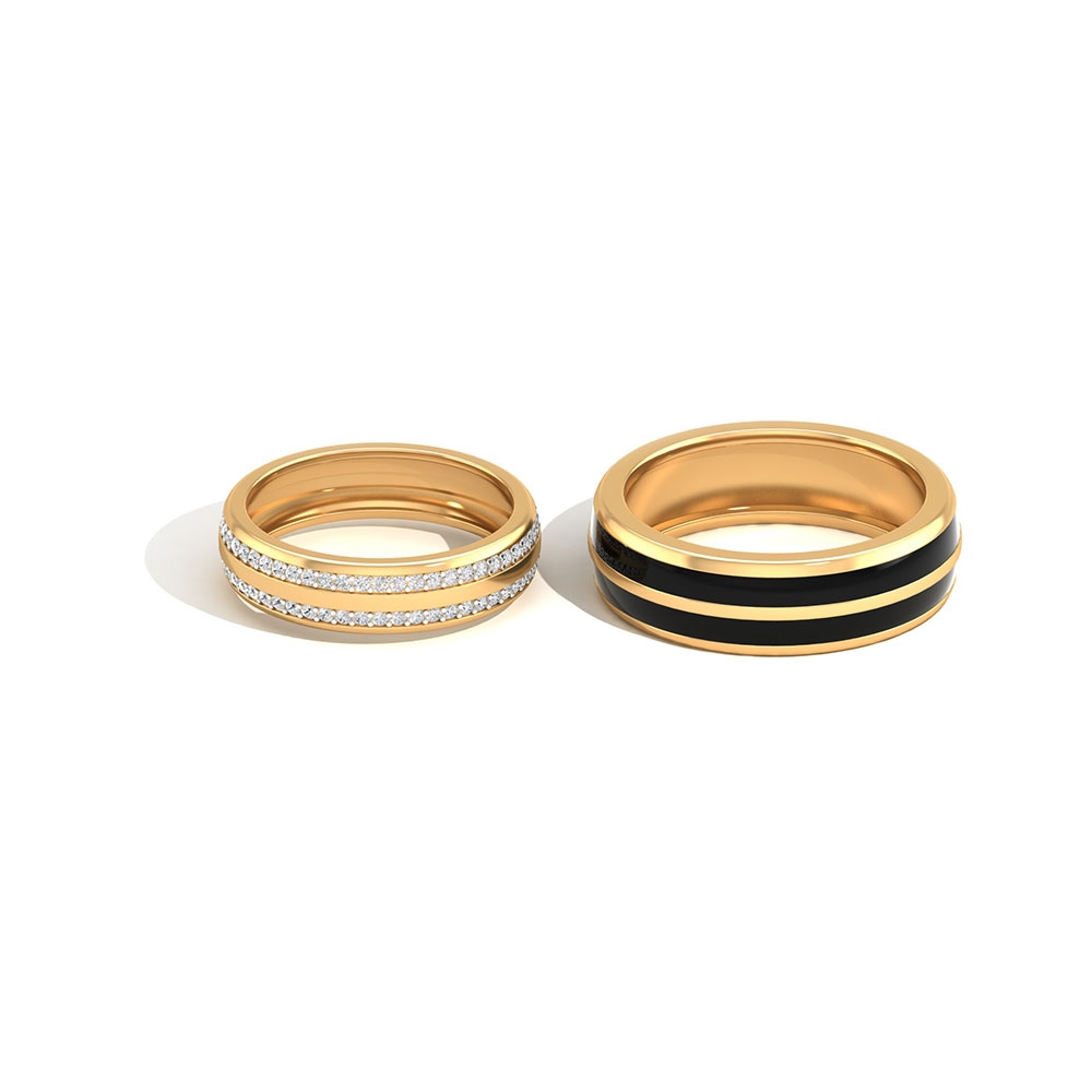 3/4 CT Diamond His and Her Wedding Rings