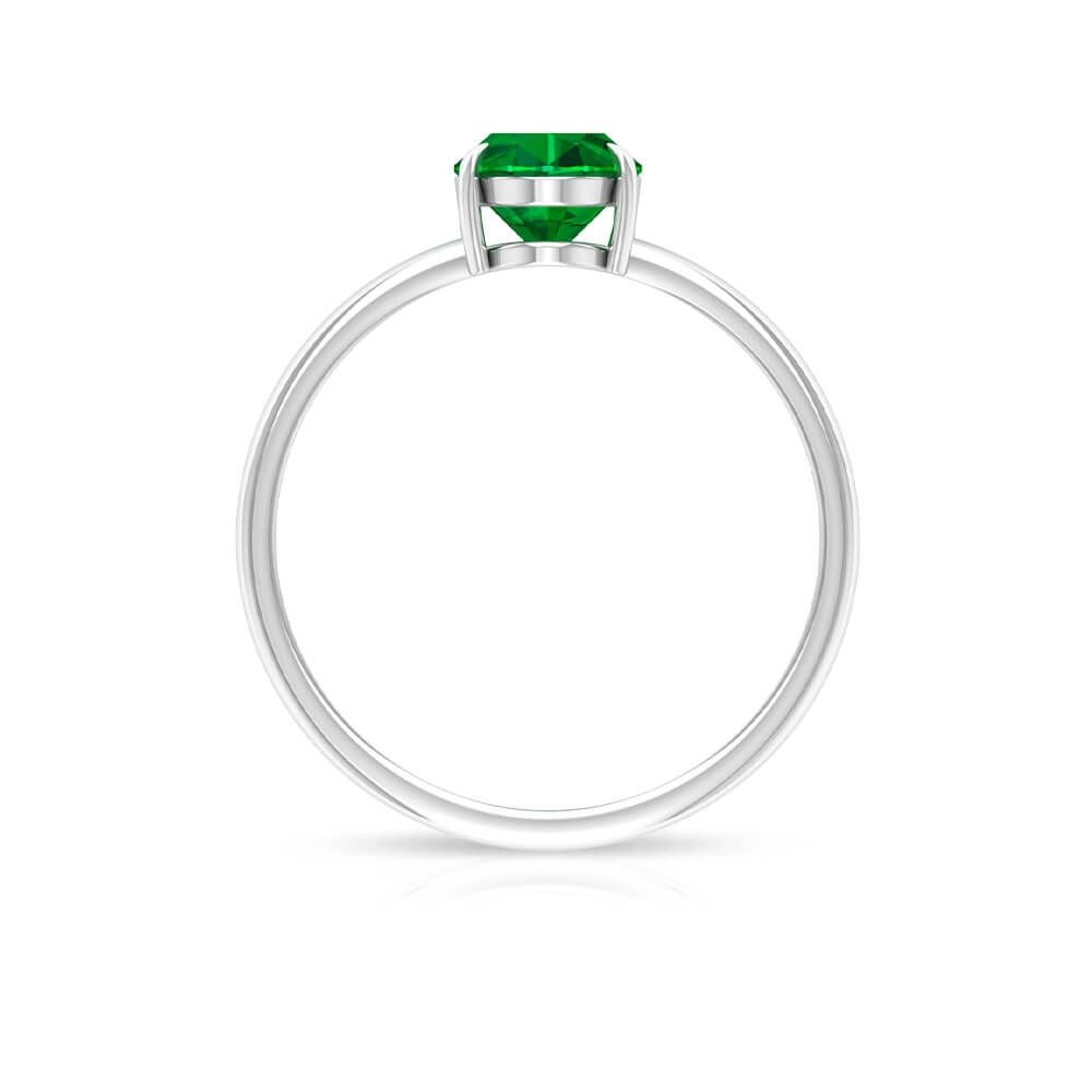 1.25 CT Oval Emerald Solitaire Ring for Women