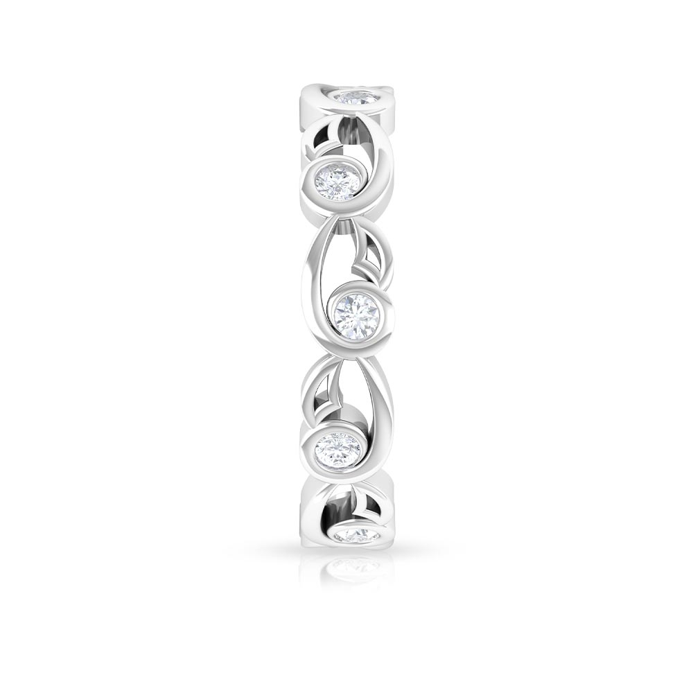 1/2 CT Diamond Simple Band Ring in Bezel Setting