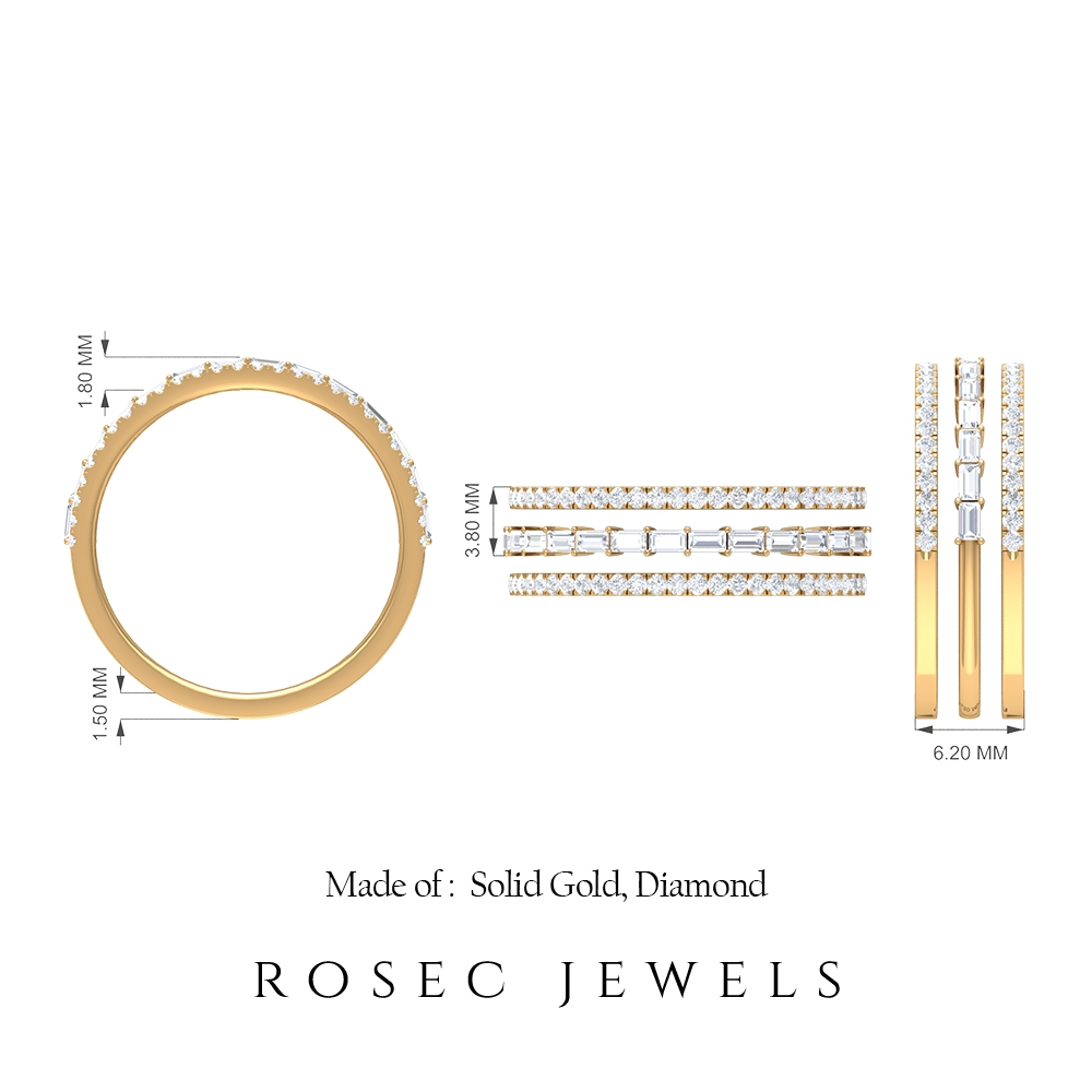 3/4 CT Diamond Stackable Rings Set