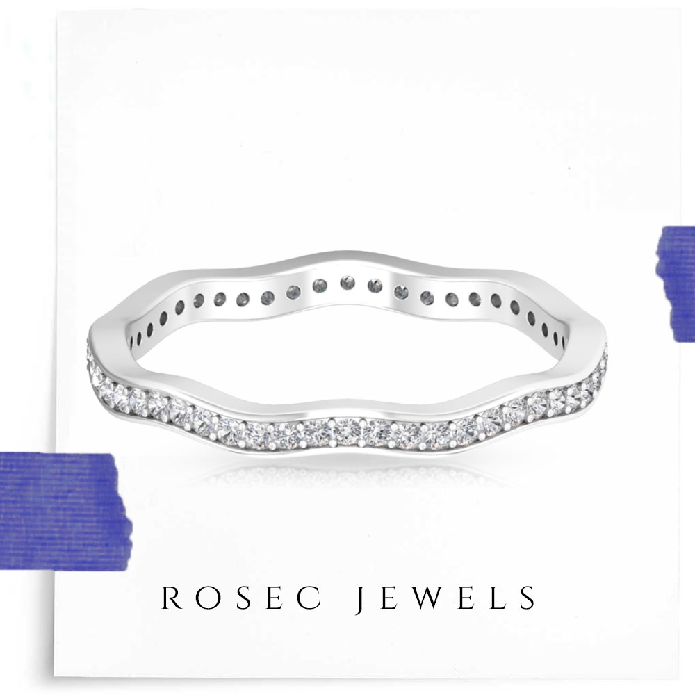 1/4 CT Diamond Curved Eternity Band
