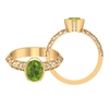 1.75 CT Peridot Engagement Ring with Moissanite Accent