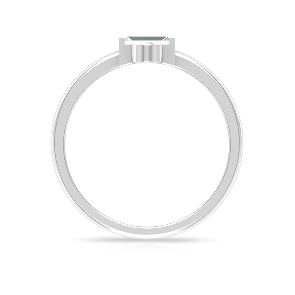 1/2 CT Baguette and Round Cut Diamond Promise 3 Stone Ring