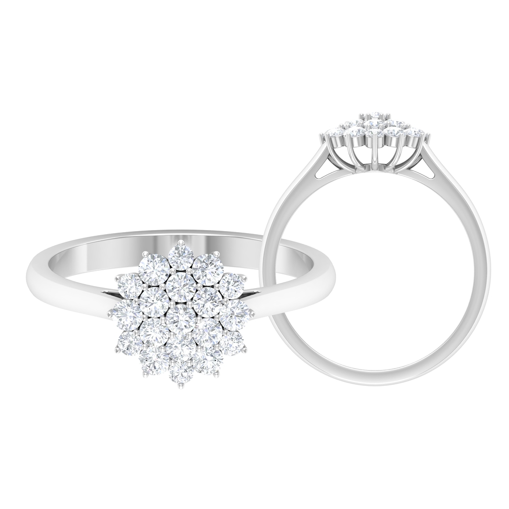3/4 CT Diamond Cluster Ring in Prong Setting