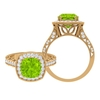 3.25 CT Created Kryptonite Solitaire Engagement Ring with Moissanite Accent