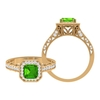 3.50 CT Created Tsavorite and Moissanite Vintage Engagement Ring
