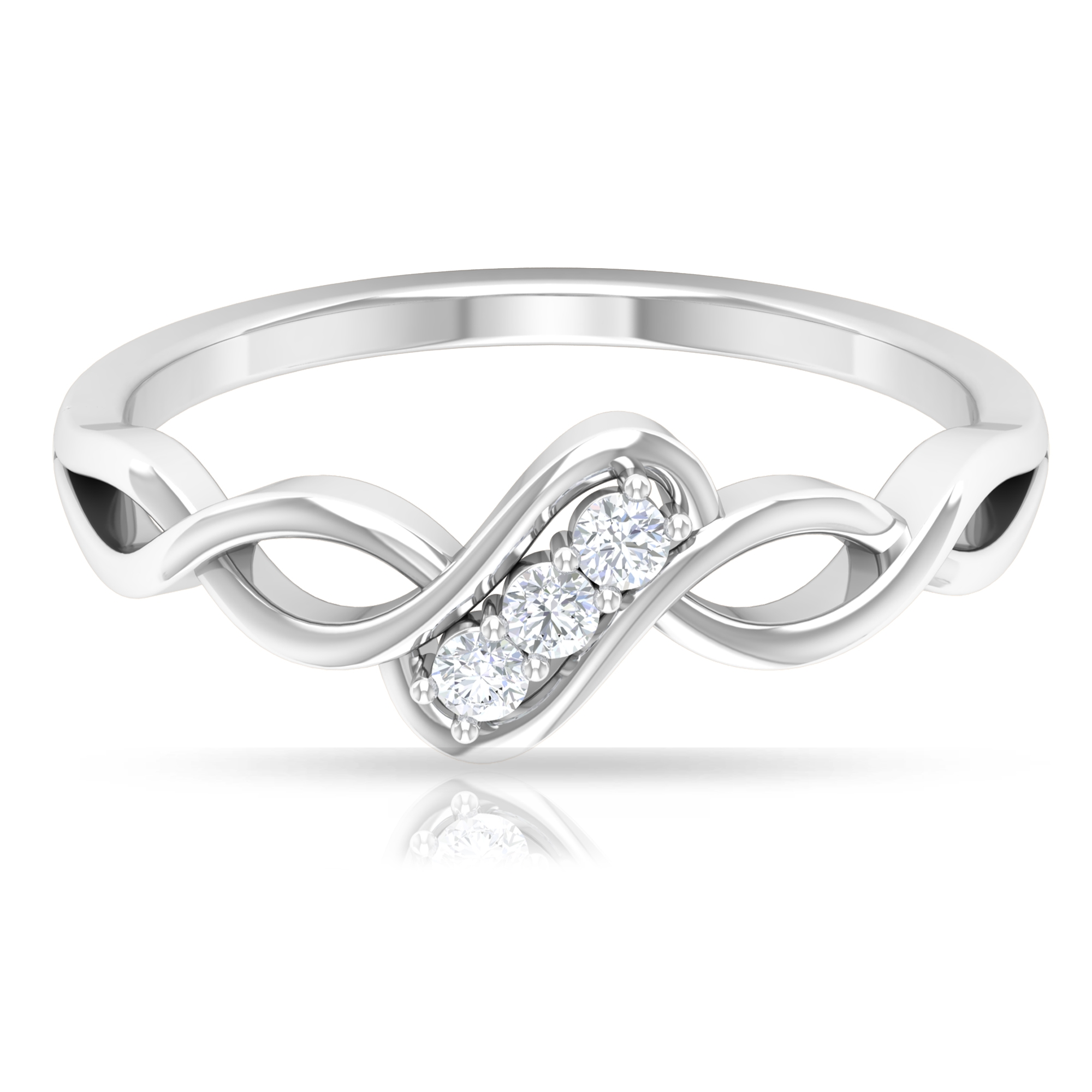 Diamond Infinity Ring in Prong Setting