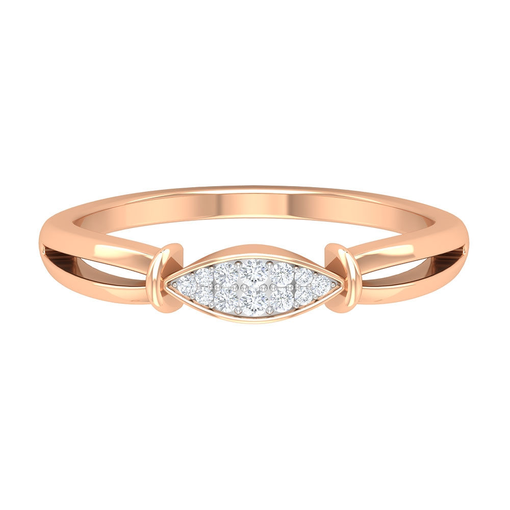 Marquise Shape Diamond Ring in Illusion Setting for Women