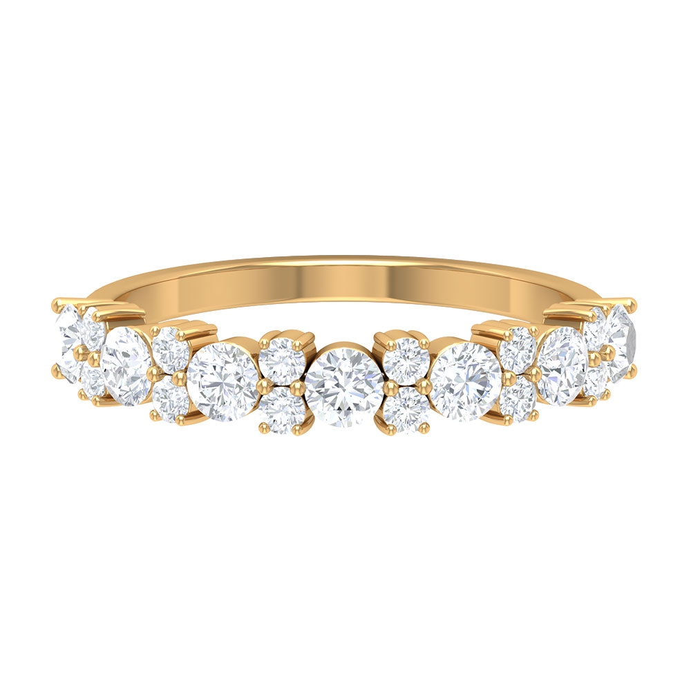 1 CT Diamond Eternity Cluster Ring in Prong Setting