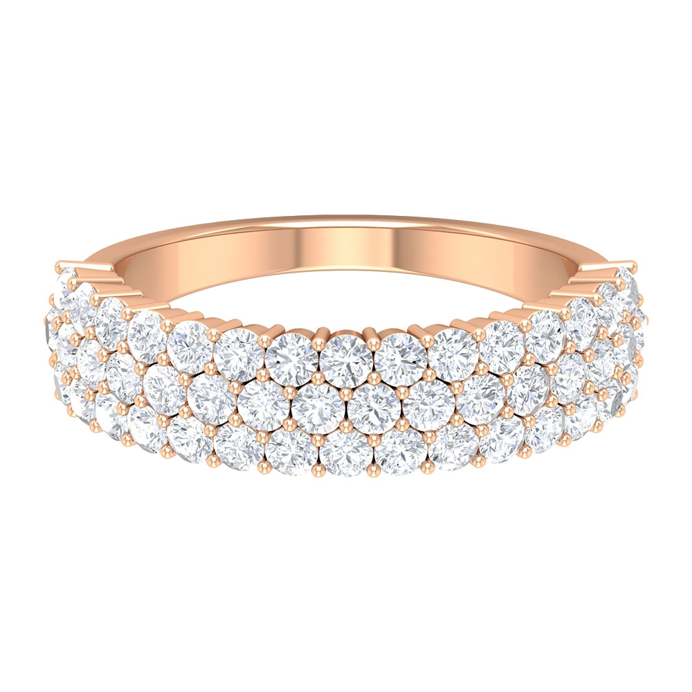 1.75 CT Diamond Wedding Band Ring in Shared Prong Setting