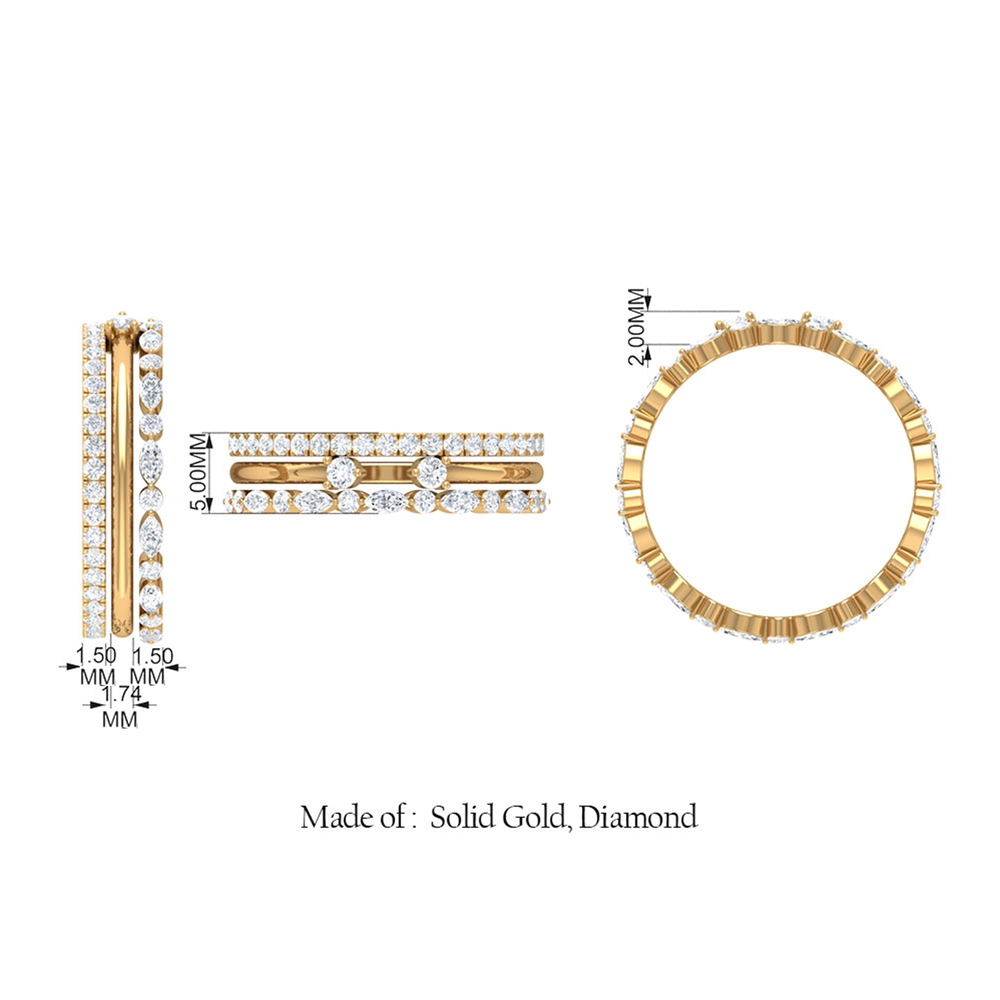 1.25 CT Diamond Stackable Ring Set