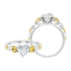 2.75 CT Heart Shape Solitaire Moissanite and Citrine Engagement Ring