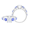 3 CT Solitaire Moissanite and Tanzanite Engagement Ring