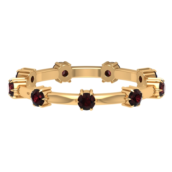 3/4 CT Claw Set Garnet Stackable Band Ring