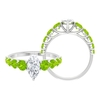 2.50 CT Solitaire Moissanite and Created Kryptonite Side Stone Ring