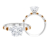 2.75 CT Solitaire Moissanite and Created Orange Tourmaline Ring