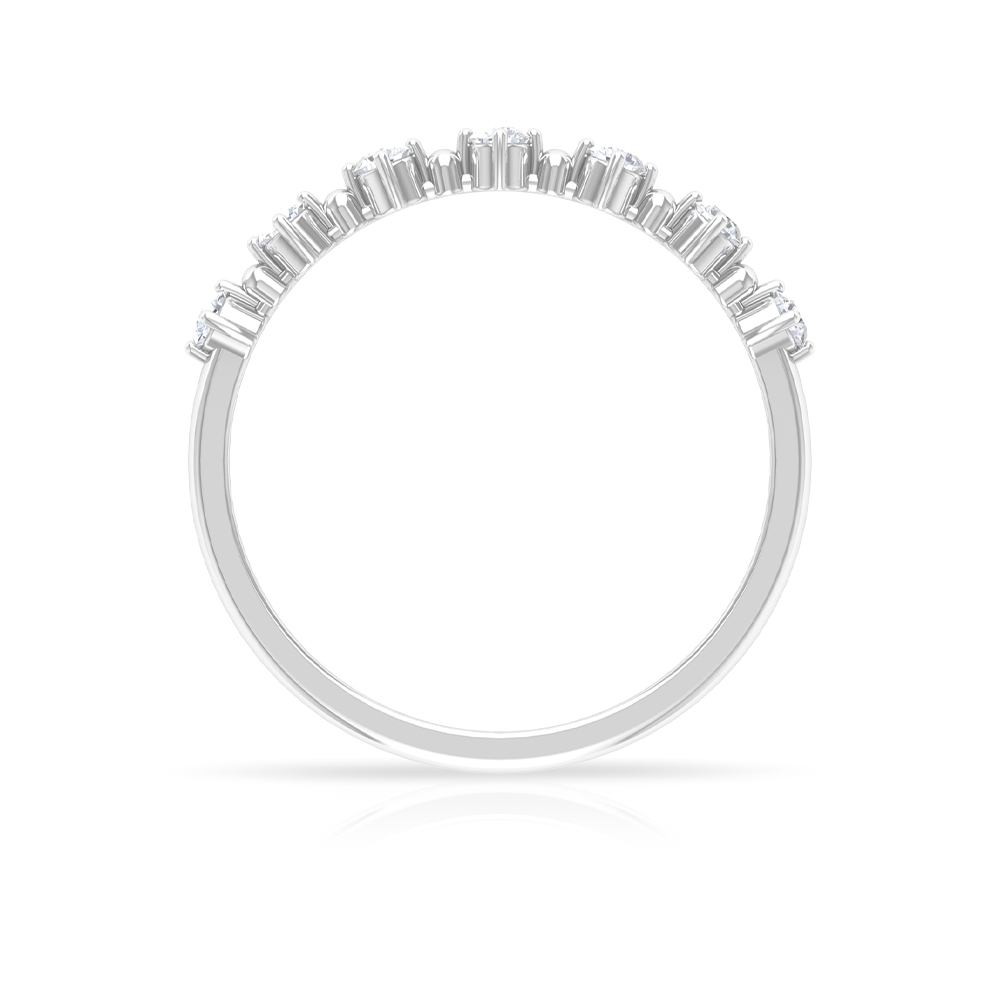1/4 CT Prong Set Diamond Seven Stone Stackable Ring