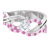 1 CT Diamond and Created Pink Sapphire Twisted Infinity Engagement Ring