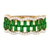 1.75 CT Baguette Cut Emerald and Diamond Classic Wedding Band Ring