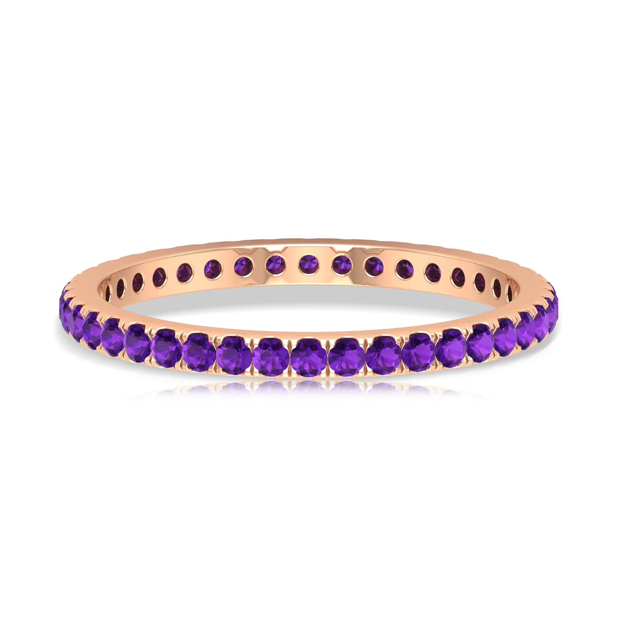 1/2 CT Amethyst Full Eternity Stackable Ring