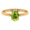 8X6 MM Oval Cut Peridot Solitaire Promise Ring