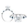 3.25 CT Solitaire Moissanite and London Blue Topaz Ring