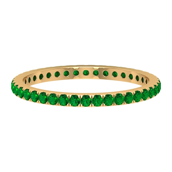 1/2 CT Created Emerald Eternity Stackable Ring