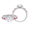 2.50 CT Solitaire Moissanite and Created Ruby Engagement Ring