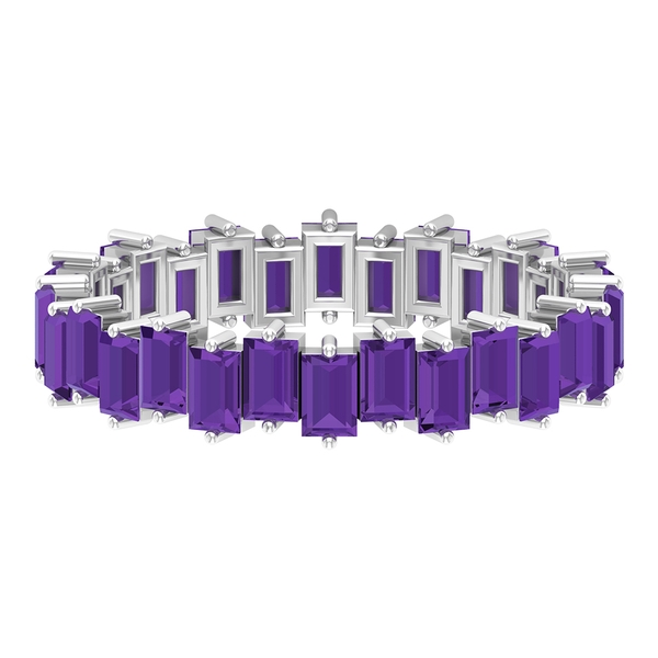 5.50 CT Created Lavender Amethyst Uneven Eternity Band