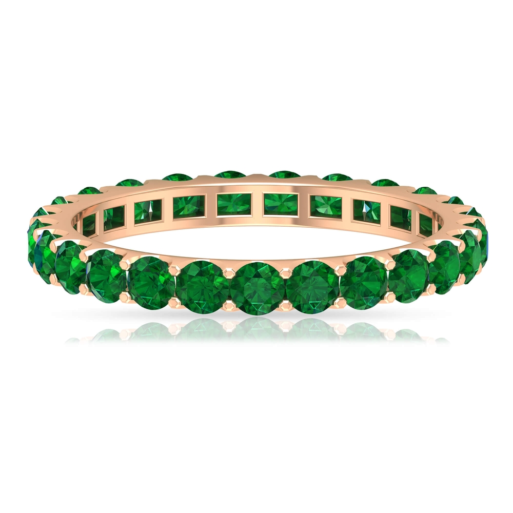 1.50 CT Emerald Floating Eternity Ring