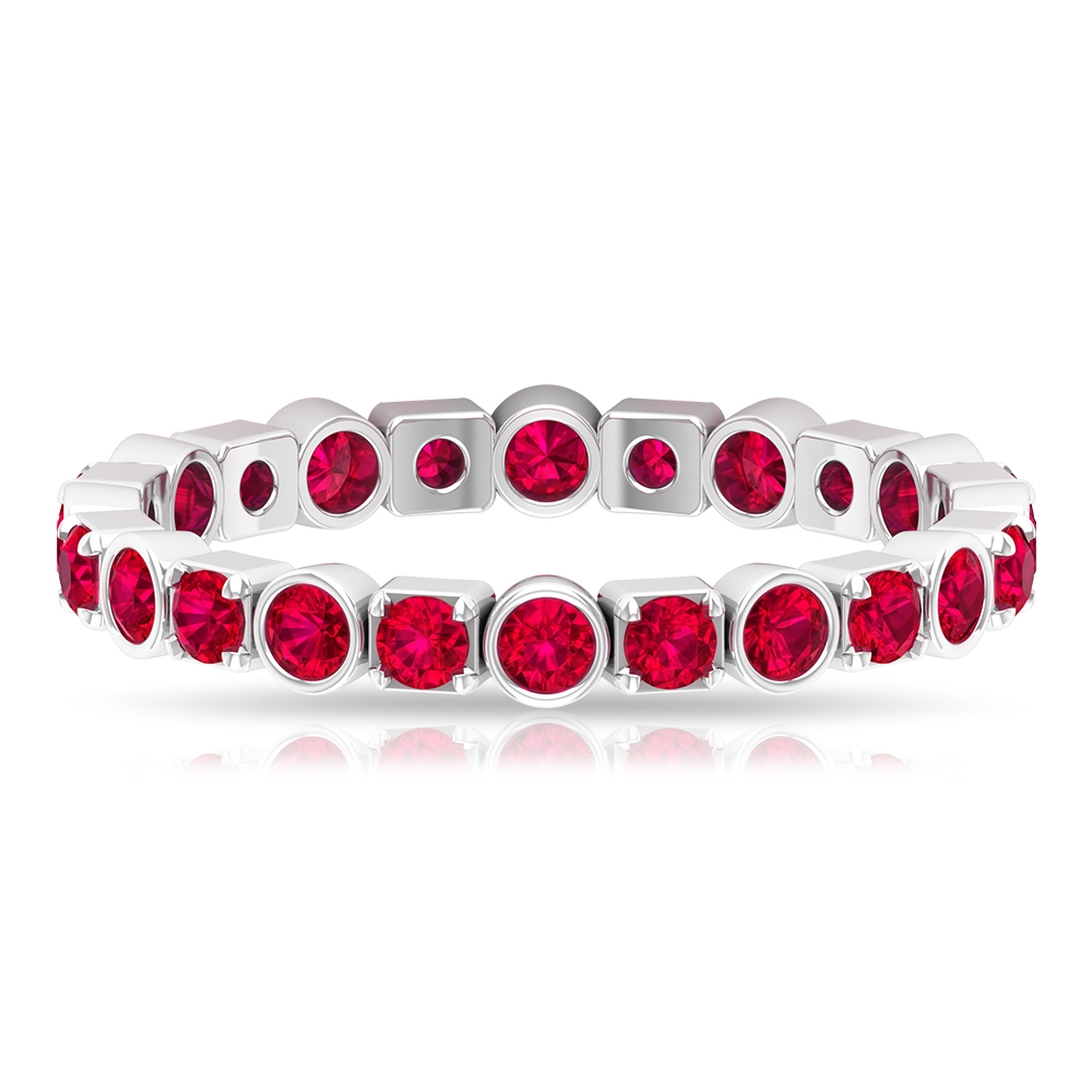 1.25 CT Ruby Eternity Band Ring